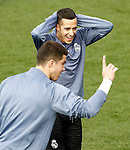 Real Madrid's Ruben Yanez (l) and Lucas Vazquez during training session. February 14,2017.(ALTERPHOTOS/Acero)