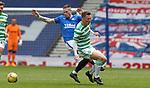 02.05.2121 Rangers v Celtic: Callum McGregor tackles Ryan Kent for first booking