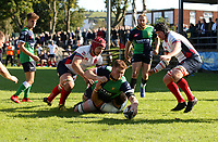 Saturday 26th September 2020 | Malone vs Ballynahinch<br /> <br /> Zac Ward scores for Ballynahinch during the Ulster Senior League fixture between Malone and Ballynahinch at Gibson Park, Belfast, Northern Ireland. Photo by John Dickson / Dicksondigital