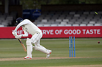 Jack Burnham of Durham is bowled out by Sam Cook during Essex CCC vs Durham CCC, LV Insurance County Championship Group 1 Cricket at The Cloudfm County Ground on 15th April 2021