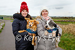 Harry and Alfie the dogs being taken for a walk by Fiona and Eileen Reilly in Lohercannon on Monday.