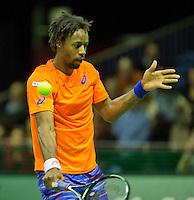 Februari 11, 2015, Netherlands, Rotterdam, Ahoy, ABN AMRO World Tennis Tournament, Gael Monfils (FRA)<br /> Photo: Tennisimages/Henk Koster