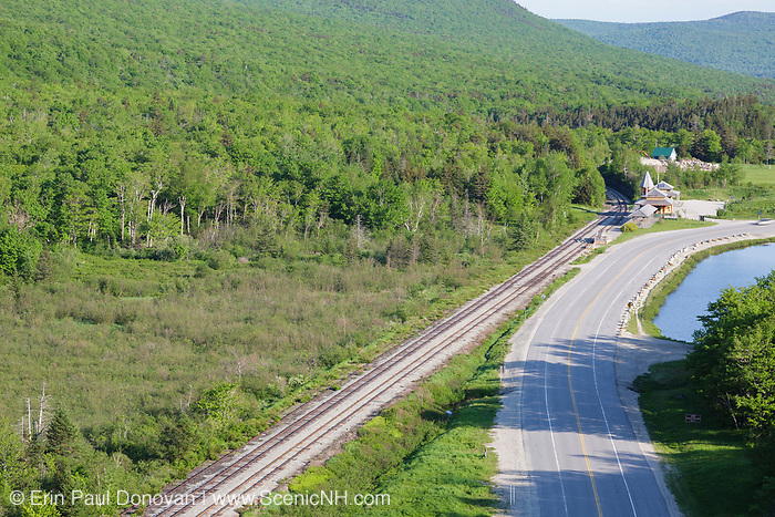 Maine Central Railroad from Elephant Head, which is a scenic overlook along the Webster-Jackson Trail in the White Mountains, New Hampshire. Since 1995 the Conway Scenic Railroad, which provides passenger excursion trains has been using the track.