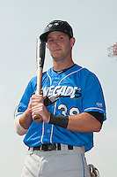 Hudson Valley Renegades infielder Daniel Miles (38) prior to game 1 of a double header against the Brooklyn Cyclones at MCU Park on July 8, 2014 in Brooklyn, NY.  Brooklyn defeated Hudson Valley 3-0.  (Tomasso DeRosa/Four Seam Images)