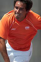 SAN ANTONIO, TX - APRIL 1, 2006: The University of Texas at Arlington Mavericks vs. The University of Texas at San Antonio Roadrunners Men's Tennis at the UTSA Tennis Center. (Photo by Jeff Huehn)