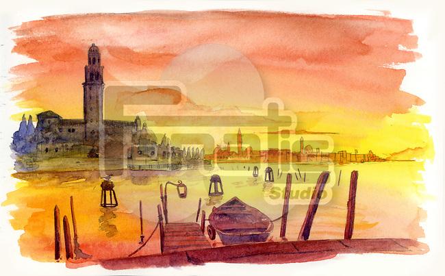Illustrative image of peaceful scenery