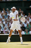 3-7-06,England, London, Wimbledon, forth round match, Baghdatis