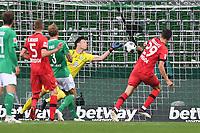 18th May 2020, WESERSTADION, Bremen, Germany; Bundesliga football, Werder Bremen versus Bayer Leverkusen;  Goal scored for 1:2: by Kai Havertz Leverkusen past keeper Jiri Pavlenka Bremen