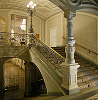 The grand staircase and entrance hall to the Mariinsky Theatre in St Petersburg