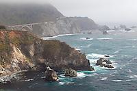 Along the Pacific Coast Highway, Big Sur coastline, California