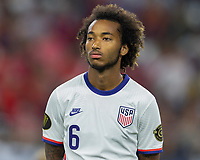 DALLAS, TX - JULY 25: Gianluca Busio #6 of the United States during a game between Jamaica and USMNT at AT&T Stadium on July 25, 2021 in Dallas, Texas.