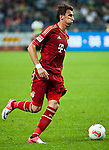 GUANGZHOU, GUANGDONG - JULY 26:  Mario Mandzukic of Bayern Munich in action during a friendly match against VfL Wolfsburg as part of the Audi Football Summit 2012 on July 26, 2012 at the Guangdong Olympic Sports Center in Guangzhou, China. Photo by Victor Fraile / The Power of Sport Images