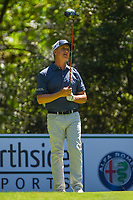 May 2nd 2021; The Woodlands, Texas, USA;  David Toms watches his tee shot on 5 during final round  of the 2021 Insperity Invitational at The Woodlands Country Club on May 2, 2021 in The Woodlands, Texas.