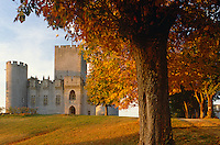A view of the Château de Roquetaillade on an autumn afternoon
