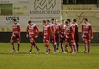 Torhout KM - FC Gullegem : FC Gullegem viert<br /> foto VDB / BART VANDENBROUCKE