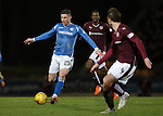 St Johnstone v Hearts..19.12.15  SPFL  McDiarmid Park, Perth<br /> Michael O'Halloran gets between Osman Sow and Blazej Augustyn<br /> Picture by Graeme Hart.<br /> Copyright Perthshire Picture Agency<br /> Tel: 01738 623350  Mobile: 07990 594431