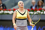 Svetlana Kuznetsova, Russia, dejected during Madrid Open Tennis 2017 match. May 12, 2017.(ALTERPHOTOS/Acero)