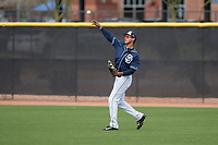 San Diego Padres right fielder Agustin Ruiz (68) during a Minor League Spring Training game against the Seattle Mariners at Peoria Sports Complex on March 24, 2018 in Peoria, Arizona. (Zachary Lucy/Four Seam Images)