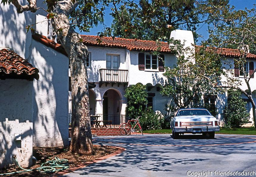 Santa Monica CA: Spanish Colonial Revival House, c. 1925. 1923 La Mesa.  Photo '78.