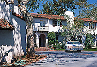 Santa Monica CA: Spanish Colonial Revival House, c. 1925. 1923 La Mesa.  Photo '78.