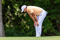 30th May 2021; Fort Worth, Texas, USA;  Sergio Garcia looks at his lie on #8 during the final round of the Charles Schwab Challenge on May 30, 2021 at Colonial Country Club in Fort Worth, TX.