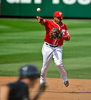 23 August 2009: Washington Nationals' infielder Ronnie Belliard in action against the Milwaukee Brewers at Nationals Park in Washington, DC. The Nationals defeated the Brewers 8-3 to take the third game of their four-game series, snapping a five games losing streak. Mandatory Credit: Ed Wolfstein Photo