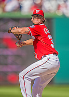26 May 2013: Washington Nationals pitcher Tyler Clippard on the mound to close out the game against the Philadelphia Phillies at Nationals Park in Washington, DC. The Nationals defeated the Phillies 6-1, taking the rubber game of their 3-game weekend series. Mandatory Credit: Ed Wolfstein Photo *** RAW (NEF) Image File Available ***