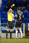 St Johnstone v St Mirren....22.01.11  .Lee Mair booked by Ref Willie Collum.Picture by Graeme Hart..Copyright Perthshire Picture Agency.Tel: 01738 623350  Mobile: 07990 594431