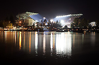 "This photo was taken during the final game at the ""old"" Husky Stadium, prior to renovation.  It was photographed during the third quarter of Washington's football game against the Oregon Ducks on November 5, 2011.<br />
