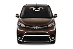 Car photography straight front view of a 2018 Toyota Proace-Verso VIP 5 Door Minivan Front View
