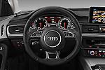Car pictures of steering wheel view of a 2016 Audi A6 - 4 Door Sedan Steering Wheel