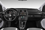 Stock photo of straight dashboard view of a 2013 Volkswagen Caddy Cross 5 Door Mini MPV 2WD Dashboard