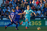 Ivan Rakitic (r) of FC Barcelona competes for the ball with Ruben Salvador Perez del Marmol of CD Leganes during the La Liga 2017-18 match between CD Leganes vs FC Barcelona at Estadio Municipal Butarque on November 18 2017 in Leganes, Spain. Photo by Diego Gonzalez / Power Sport Images