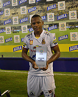 BARRANCABERMEJA  - COLOMBIA, 12-10-2019.Juan Rios jugador de Alianza Petrolera. Alianza Petrolera y Deportes Tolima  durante partido por la fecha 17 de la Liga Águila II 2019 jugado en el estadio Daniel Villa Zapata de la ciudad de Barrancabermeja. /Juan Rios player of Alianza Petrolera. Action game between Alianza Petrolera  and Deportes Tolima  during the match for the date 17 of the Liga Aguila II 2019 played at the Daniel Villa Zapata Stadium in Barrancabermeja  city. Photo: VizzorImage / José Martínez  / Contribuidor
