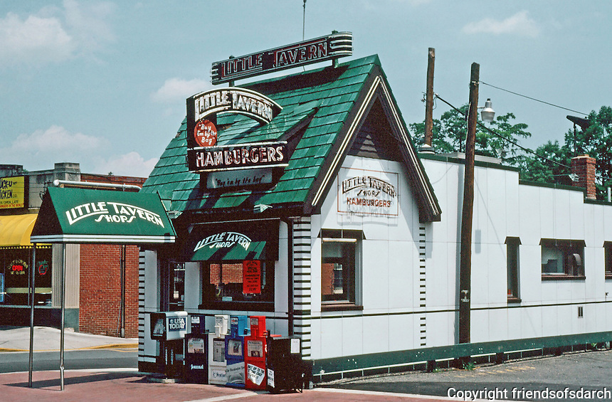 College Park:  Little Tavern Shop.  Photo '91.