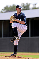 August 25, 2009: Pitcher Caleb Cotham of the GCL Yankees delivers a pitch during a game at Yankees Training Complex in Tampa, FL.  Cotham was selected in the 5th round (165th overall) of the 2009 MLB Draft.  The GCL Yankees are the Gulf Coast Rookie League affiliate of the New York Yankees.  Photo By Mark LoMoglio/Four Seam Images