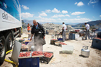 food for the guests at 1850m altitude<br /> <br /> Tour of Turkey 2014<br /> stage 3