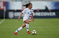 Jacksonville, FL - Thursday April 5, 2018: Mallory Pugh during an International friendly match versus the women's National teams of the United States (USA) and Mexico (MEX) at EverBank Field.