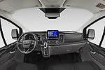 Stock photo of straight dashboard view of 2021 Ford Transit-Custom-Kombi Trend 5 Door Combi Dashboard