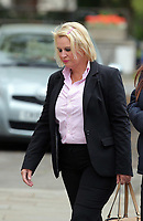 COPY BY TOM BEDFORD<br /> Pictured: Jackie Taylor the mother of Sophie Taylor, arrives with friends and family at Cardiff Crown Court. Monday 24 April 2017<br /> Re: A woman is due to stand trial in connection with the death of a young woman in Cardiff last summer.<br /> Melissa Pesticcio has denied four offences in relation to the death of 22-year-old Sophie Taylor in the early hours of August 22 2016.<br /> 23-year-old Pesticcio entered not guilty pleas to two counts of dangerous driving and two of aiding and abetting her co-defendant Michael Wheeler.<br /> Michael Wheeler, 22, pleaded guilty in December to causing death and serious injury by dangerous driving.<br /> Lewis Hall, a third defendant, was sentenced in January after he admitted intending to pervert the course of justice.
