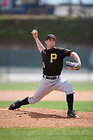 Pittsburgh Pirates pitcher Matt Frawley (75) delivers a pitch during a minor league Spring Training game against the Philadelphia Phillies on March 24, 2017 at Carpenter Complex in Clearwater, Florida.  (Mike Janes/Four Seam Images)