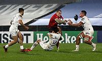 11 December 2020; Jacob Stockdale is tackled by Romain Ntamack during the Heineken Champions Cup Pool B Round 1 match between Ulster and Toulouse at Kingspan Stadium in Belfast. Photo by John Dickson/Dicksondigital