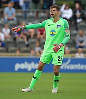 goalkeeper Rune Jarstein      <br /> / Sport / Football / pre season friendly Bundesliga  DFL /  2018/2019 / 15.08.2018 / Hertha BSC Berlin vs. Hscher FC Chemie HFC / DFL regulations prohibit any use of photographs as image sequences and/or quasi-video. /<br />       <br />    <br />  *** Local Caption *** © pixathlon