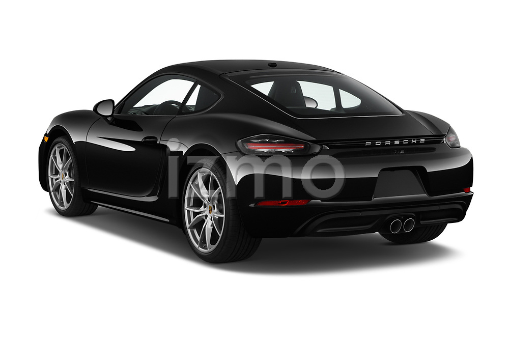 Car pictures of rear three quarter view of a 2019 Porsche 718 Cayman Base 2 Door Coupe angular rear
