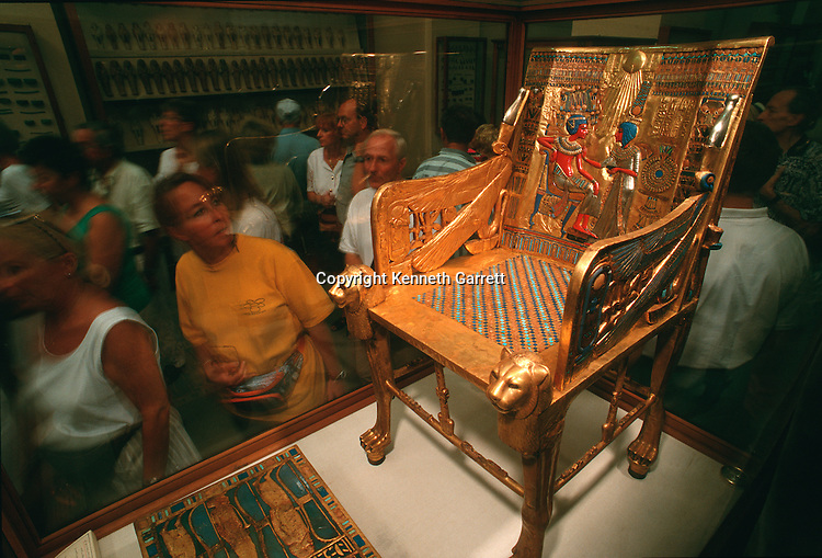 Tutankhamun,Golden throne, Egyptian Museum, Cairo