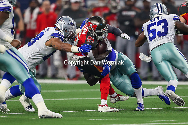 Tampa Bay Buccaneers wide receiver Bobo Wilson (85) in action during the pre-season game between the Tampa Bay Buccaneers and the Dallas Cowboys at the AT & T Stadium in Arlington, Texas.