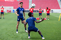 SANDY, UT - JUNE 8: Yunus Musah of the United States during a training session at Rio Tinto Stadium on June 8, 2021 in Sandy, Utah.