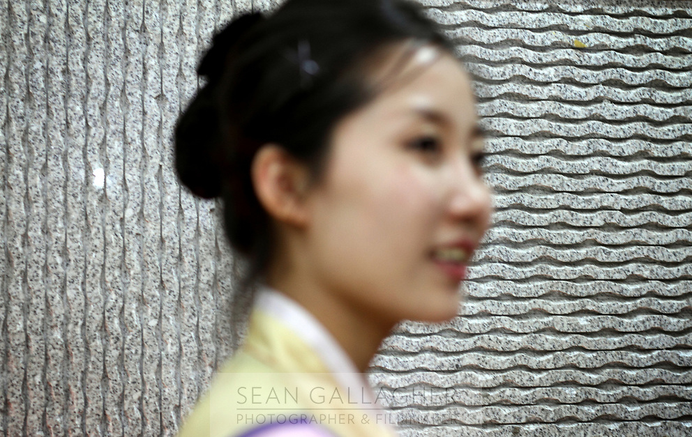 China. Jilin Province. A North Korean woman in a restaurant in the town of Yanji, close to the border with North Korea. The town is part of the Korean Autonomous Prefecture in the north-east of the country. 2011