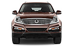 Car photography straight front view of a 2015 Ssangyong Rexton W Sapphire 5 Door Suv Front View
