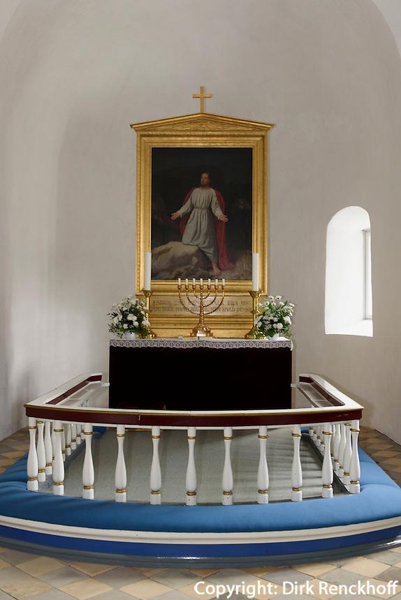 Altar in der Ibs Kirke in Ibsker auf der Insel Bornholm, Dänemark, Europa<br /> altar in Ibs Kirke in Ibsker, Isle of Bornholm Denmark